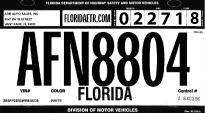 Florida Temporary Tag >> Florida Etr Temp Tags Pricing For Temp Tag Metal Plate Transfer